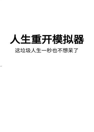 人生重开电脑官方中文版 v1.0